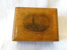 Antique Mauchline Ware jewellery box Entrance To Brighton Aquarium