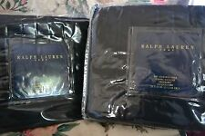 RARE RALPH LAUREN HOME BLUE LABEL BEXLEY PAIR OF STANDARD SHAMS ~ BLACK