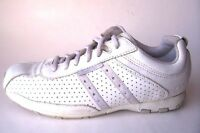 SKECHERS WOMENS WHITE LEATHER SNEAKERS WALKING COMFORT FASHION SHOES SIZE 8