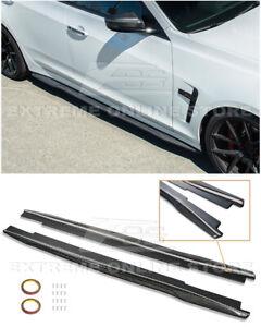 For 16-19 Cadillac CTS-V CARBON FIBER Package Side Skirts Rocker Panel Extension