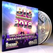 Mr Entertainer Big Karaoke Hits of 2018 - 2 x CD+G (CDG) Disc Package. 40 Songs