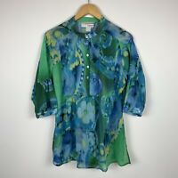 Heine Womens Blouse Size Medium (Au 10) Retro 3/4 Sleeve Good Condition