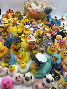 Rubber Duck Lot Collection of Various Sizes Alphabet Holidays Characters 110!