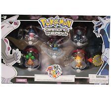 Genuine Pokemon Diamond And Pearl 5 Figure Set Collectors Edition Box Keychain