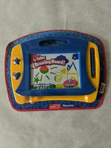 """*Grin Studios 4 Color Drawing & Erase Board 5"""" Screen w/ Pen & 2 Stampers Age 4+"""