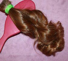 HUMAN HAIR HAIRCUT 9 IN 2.5oz BABYFINE CHILDS CURLY GOLD BRUNETTE PONYTAIL B78