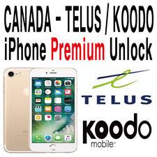 Premium Telus Koodo Unlock Service iPhone 5 5c 5s SE 6 6+ 6s 6s+ 7 7+ 8 8+