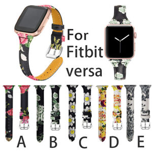 For Fitbit Versa 1/2/ Lite Replace Leather Wristband Bracelet Band Strap Belt