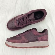 Women's Nike Air Force 1 '07 Premium Burgundy Crush Sneakers size 7.5