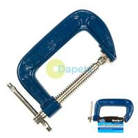 """Fine Thread G Clamp Heavy Duty 3"""" 75mm Tommy Bar Handle Holding Steel"""