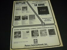 The BEATLES and LE ORME from Italy dual 1975 PROMO POSTER AD mint condition