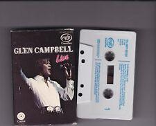 GLEN CAMPBELL ~ Live~12 tracks CASSETTE ALBUM~1969~TCMFP50393