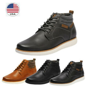 Men's Mid Top Chukka Boots Lace Up Sneaker Dress Water-Resistant Boots US Size