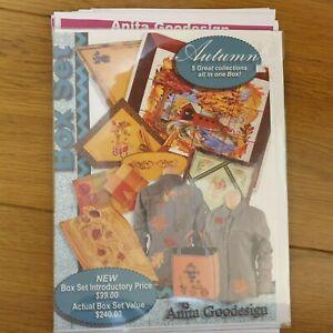 Anita Goodesign Autumn Box Set, Embroidery 5 collections Pes, hus, jef, exp etc.
