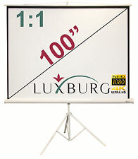 "Luxburg® 100"" 178x178 cm Full HD 3D Projector Screen - Tripod Projection Screen"
