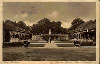 Bad Nauheim Hessen AK 1929 Drei Sprudel Löwe Badehäuser Quelle Kurpark gelaufen