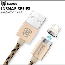 BASEUS MAGNETIC PHONE CHARGER CHARGING CABLE IPHONE 6 6S 5 IPAD IPOD USB GOLD