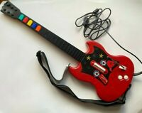 Sony Playstation PSLGH PS2 Wired Guitar Hero Guitar Red Octane With Strap