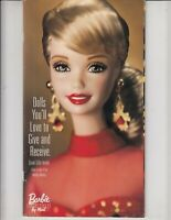 Barbie Doll Collector Magazine Catalog  1998 .  Elvis, Lucy, Vera Wang , Sisters