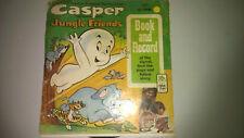 Casper the Friendly Ghost Jungle Friends Book and 45 rpm Record 1973 Vintage
