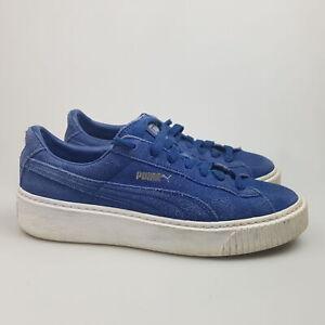 Women's PUMA 'Suede Platform' Sz 9.5 US Shoes Blue VGCon   3+ Extra 10% Off