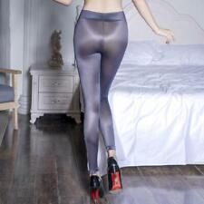Oil Glossy Shiny Transparent Exotic Pencil Pants Wet Look Leggings Hot Sexy