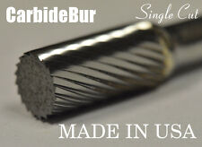"BRAND NEW USA CARBIDE BURR SA-3 SINGLE CUT 1/4"" CYLINDRICAL DEBURRING TOOL BIT"