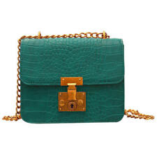 Women's Stone Ripple Chain Bag Leather Shoulder Bags Crossbody Handbag Ladies