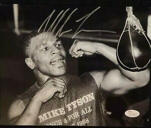 MIKE TYSON Signed Autographed 8x10 Boxing Photo JSA/COA Certified Silver Ink