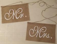 Hochzeitsdekoration | für Stuhl | Schilder aus Jute | Mr. & Mrs.