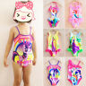 Kids Girls Sundress Cartoon Printed Swimwear Beach Bathing Swimming Costume