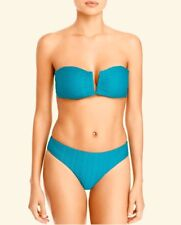 Red Carter The Wave Oasis Blue/Bandeau Textured Bikini Swimsuit SET S M NWT $154