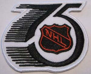 National Hockey League~NHL~75th Anniversary Embroidered Patch~3 x 2 5/8~Iron On