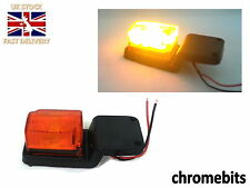 1X 8 LED Rubber Amber Light Lamp Indicator 12V Side Marker Truck Trailer Lorry
