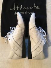 Ultimate Hybrid Unisex Dance Shoes Size 7.5 White Leather Medium Width