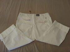 Womens New Converse Capri Pants 14 White Cream Cotton