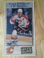 Todd Simpson Calgary Flames 97-98 postcard Panthers Yotes Ducks Sens Hawks Habs
