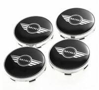 4pcs 60mm Mini Cooper Black Logo Emblem Alloy Wheel Center Caps Hub Caps Rim Cen