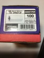 Powers Fasteners 100ct 3/8-16 x 1/2 x 1 1/8 CPNUT ZP 030007-PWR