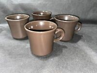 Set of 4 Franciscan Madeira Solid Brown Coffee Mugs or Tea Cups FREE SHIPPING!