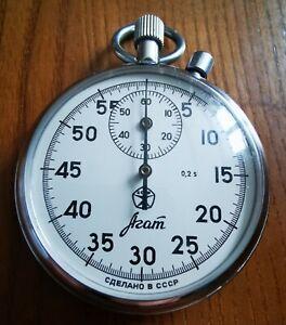 "Shockproof Soviet USSR Russian Stopwatch ""Agat"" mechanical."