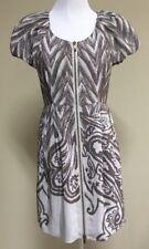 TIBI Taupe/Champagne Zippered Dress. 6