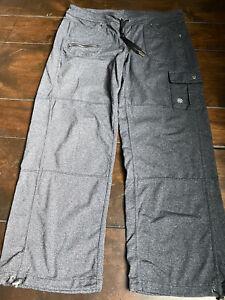 ATHLETA BETTONA BOYFRIEND CARGO Sz LP Large Petite Charcoal Gray Cinch Pants