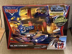 Mattel Disney Pixar Cars OIL RIG AMBUSH PLAYSET From 2011! MIB! L@@K! RARE! NEW