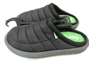 Sanuk Womens Slippers Puff N Chill Low Black Size 7