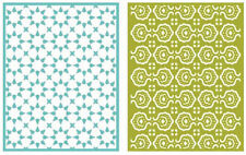 """Quickutz Embossing folder """"Tile"""" A2 card making  2 folders double pack"""