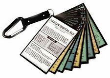 Whitecap Cheat Sheets for Nikon Dslr D3500 D5600 D7500 D3400 D3300 D5500 . New