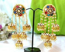 Indian Bollywood Designer Gold Plated 5 Jhumka Earrings Ethnic Fashion Jewelry