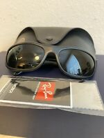 Ray Ban Predator RB 4033 601-S/48  Wrap Sunglasses Black - Italian