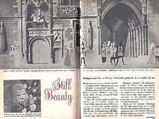 WALT DISNEY 1959 SLEEPING BEAUTY BACKGROUND FOR A PRINCESS ART PICTORIAL